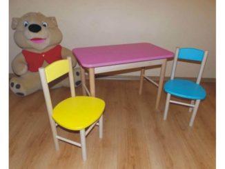 dětský stoleček a židlička