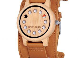 dřevěné hodinky dámské
